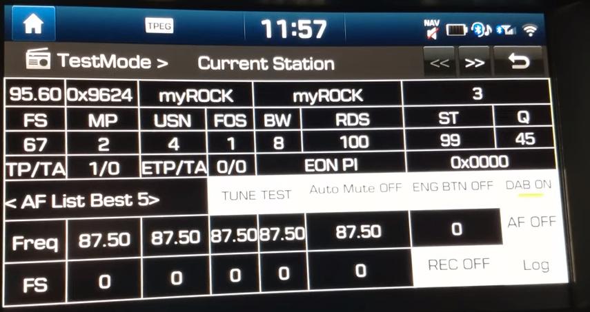 Infotainment Hyundai/Kia Engineering Mode - skryté funkce rádia