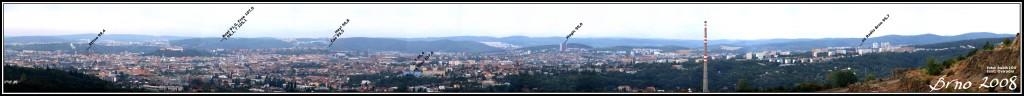 Brno - panorama vybraných FM vysílačů 2012