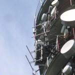 Brno - Hády - detail doplňkových antén BBC a E2