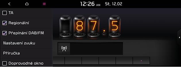 Kia Hyundai Přepínání DAB/FM rádio.
