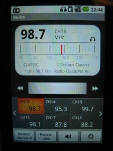 LG P500 Optimus One - FM rádio