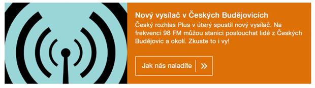 Český rozhlas Plus České Budějovice 98,0