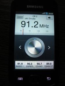 Samsung Galaxy Gio - FM rádio