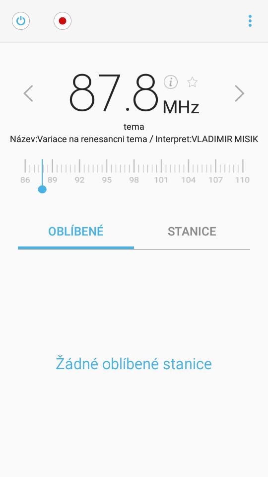 Samsung Galaxy A3 FM Radio app